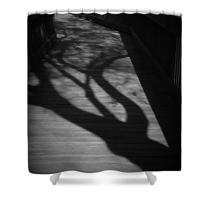 Black Shower Curtain featuring the photograph The Boardwalk by Phil Penne