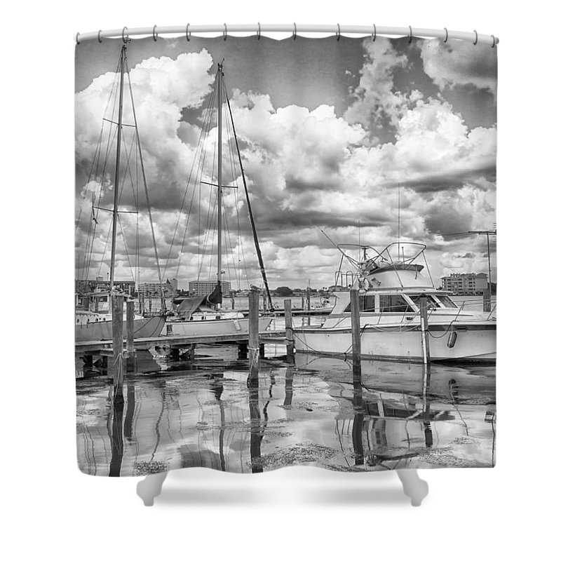Seascape Photography Shower Curtain featuring the photograph The Boat by Howard Salmon