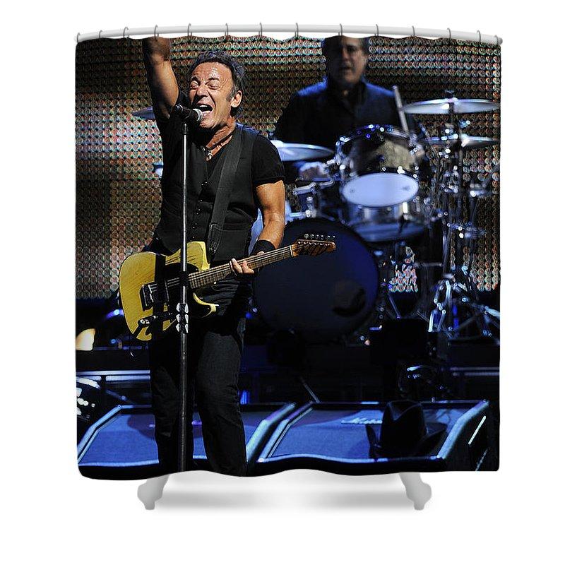 Music Shower Curtain featuring the photograph The Boss 29 by Rafa Rivas