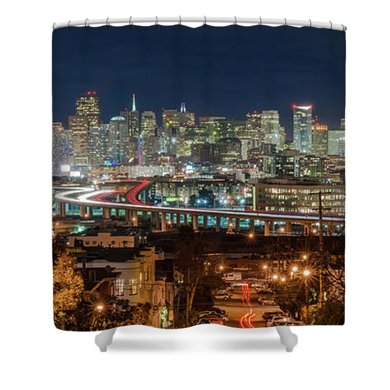 Tranquility Shower Curtain featuring the photograph The Breath Taking View Of San Francisco by Www.35mmnegative.com