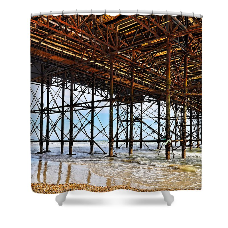 Brighton Shower Curtain featuring the photograph The Brighton Pier by Dutourdumonde Photography