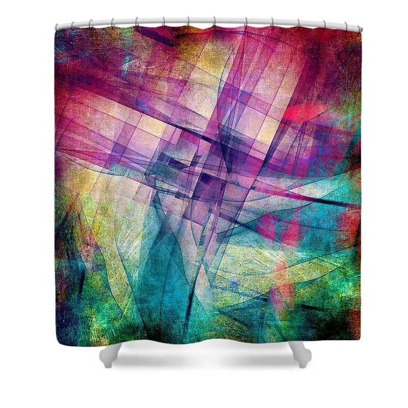 Block Digital Art Shower Curtains