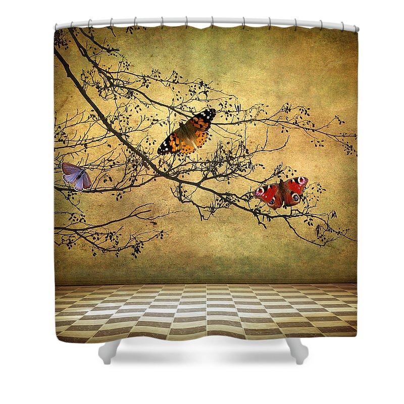 Fantasy Shower Curtain featuring the photograph The Butterfly Room by Jessica Jenney