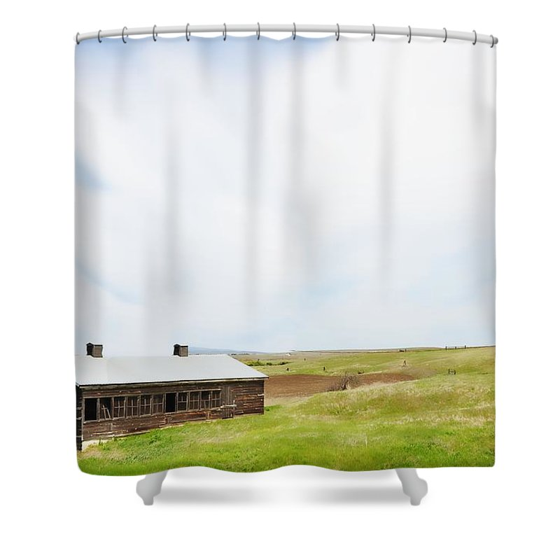 Cabin Shower Curtain featuring the photograph The Cabin by Image Takers Photography LLC