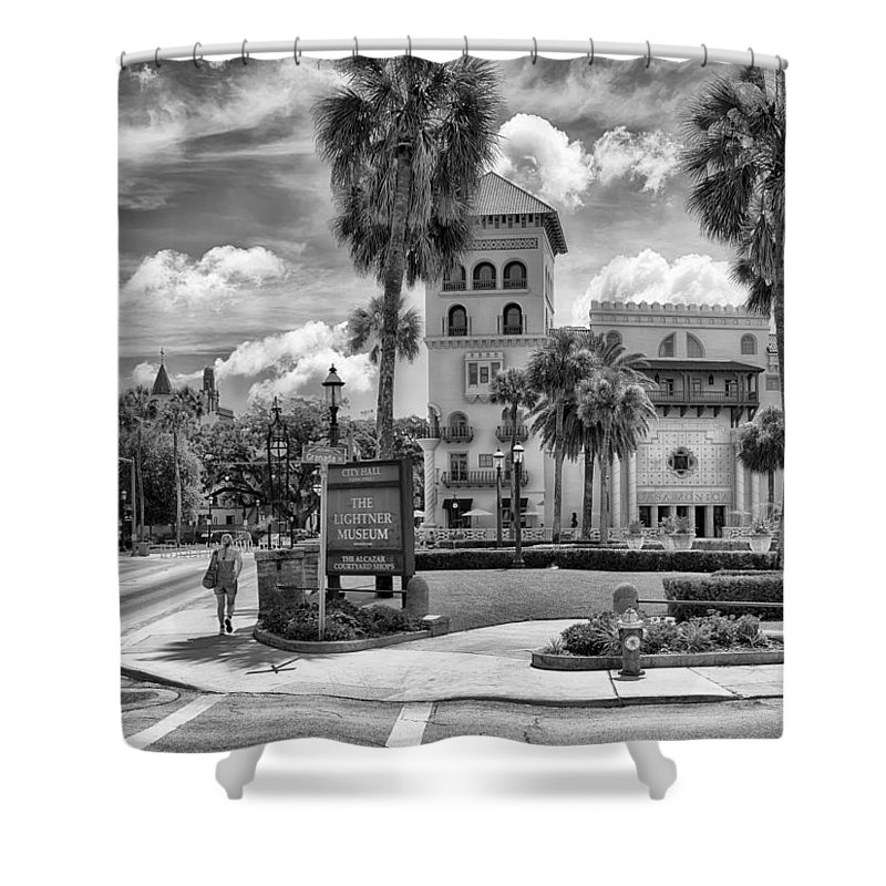 St. Augustine Shower Curtain featuring the photograph The Casa Monica by Howard Salmon