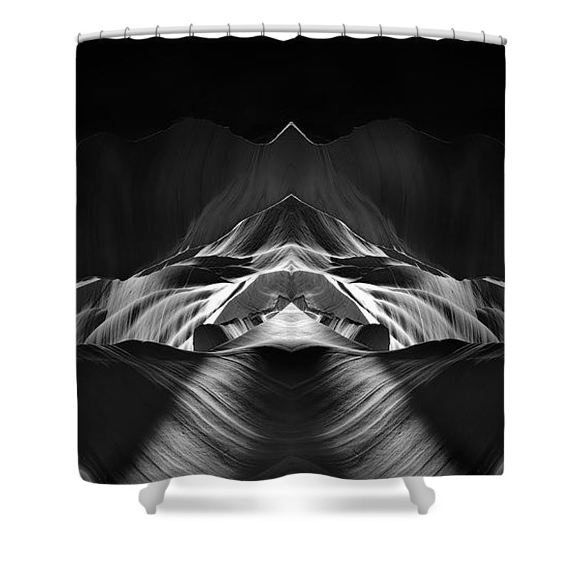 3scape Shower Curtain featuring the photograph The Cave by Adam Romanowicz