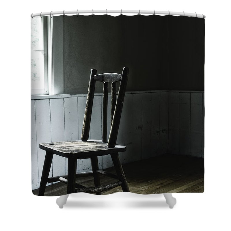 Chair Shower Curtain featuring the photograph The Chair By The Window II by Margie Hurwich