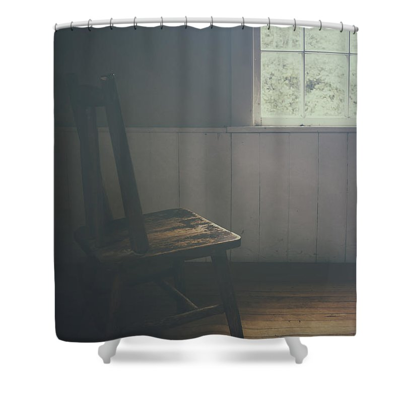 Chair Shower Curtain featuring the photograph The Chair By The Window IIi by Margie Hurwich