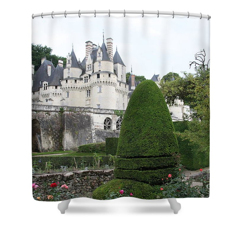 Palace Shower Curtain featuring the photograph The Chateau's Towers View by Christiane Schulze Art And Photography