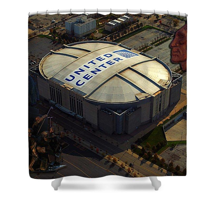 Chicago Blackhawks Shower Curtain featuring the photograph The Chicago Blackhawks by Thomas Woolworth
