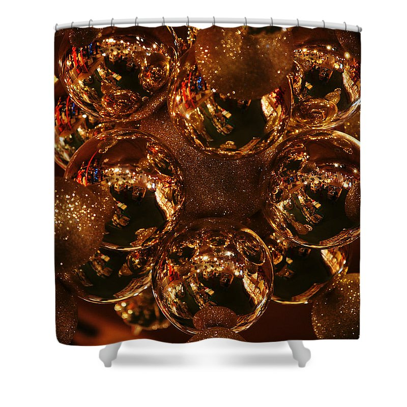 Christmas Shower Curtain featuring the photograph The Christmas Gift by Linda Shafer
