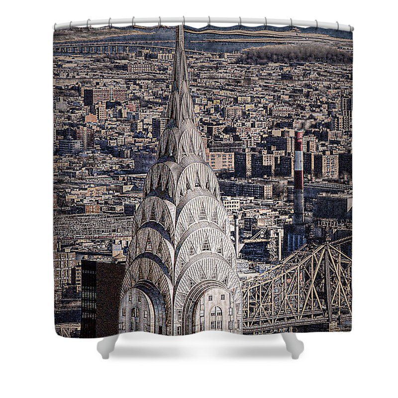Chrysler Building Shower Curtain featuring the photograph The Chrysler Building by Dyle  Warren