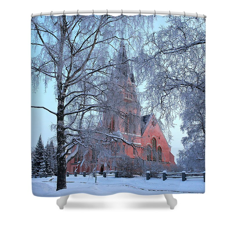Finland Shower Curtain featuring the photograph The Church Of Kemi by Jouko Lehto