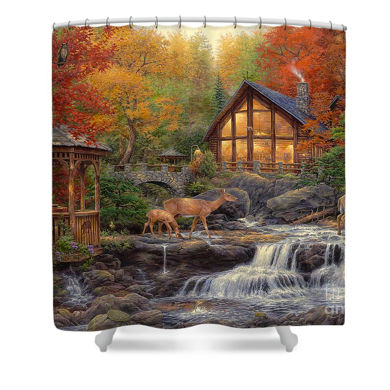 Trout Shower Curtains