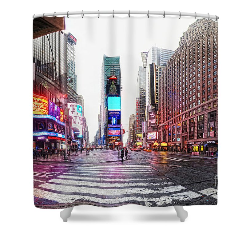 Times Square Shower Curtain featuring the photograph The Crossroads Of The World by Nishanth Gopinathan