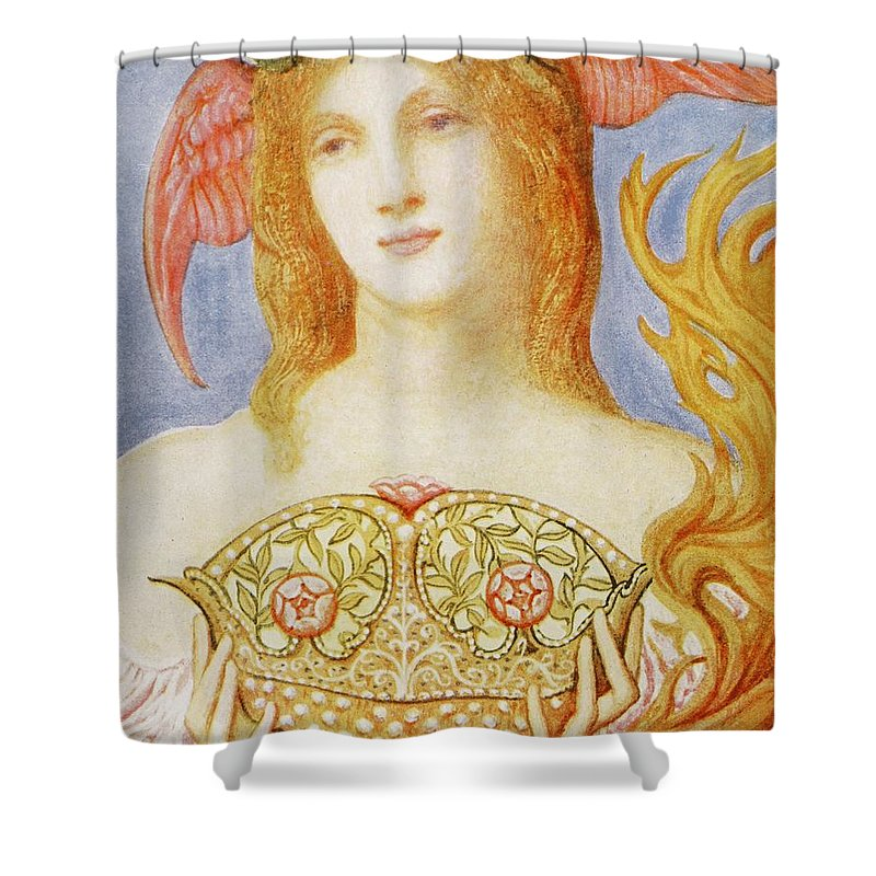 Female Shower Curtain featuring the painting The Crown Of Peace by Sir William Blake Richmond