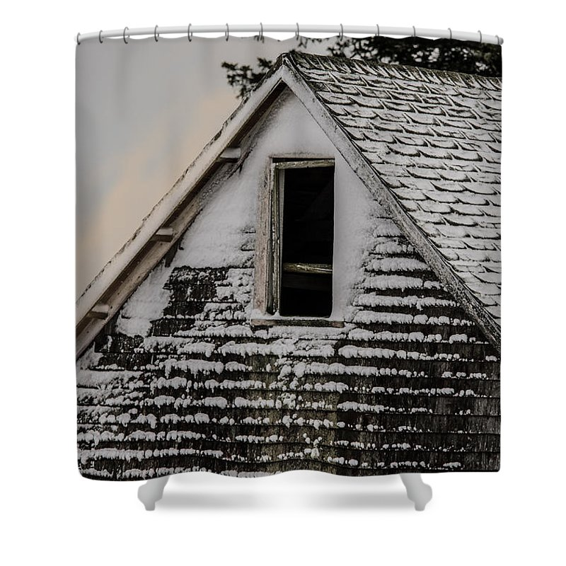 Barn Shower Curtain featuring the photograph The Crows Nest by Susan Capuano