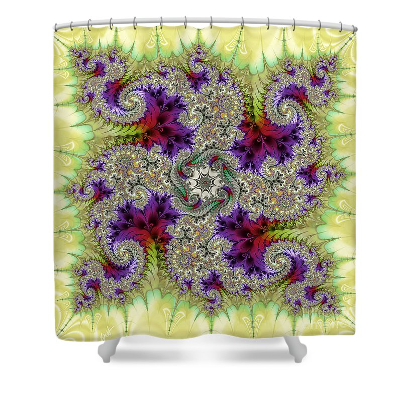 The Dance Shower Curtain featuring the digital art The Dance by Kimberly Hansen