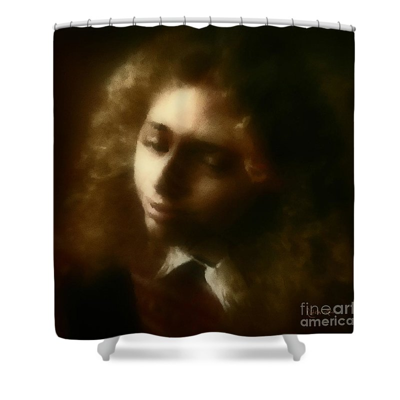 Girl Shower Curtain featuring the painting The Daydream by RC DeWinter