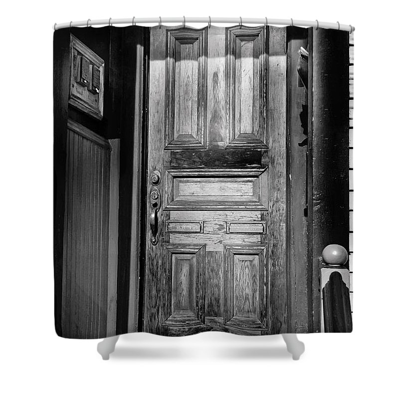 Brady Street Shower Curtain featuring the photograph The Doorway by Debbie Nobile