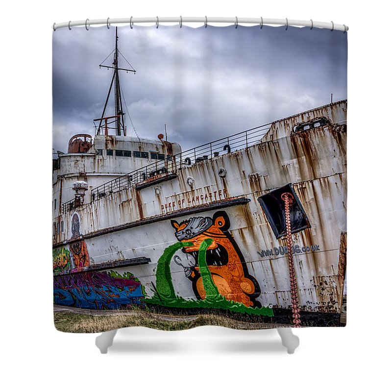 Abandoned Shower Curtain featuring the photograph The Duke Of Lancaster by Adrian Evans