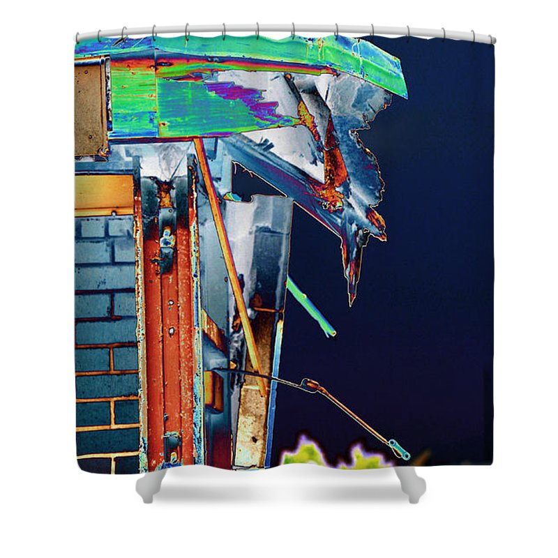 Old Building Shower Curtain featuring the photograph The Edge Of Glory by Sylvia Thornton