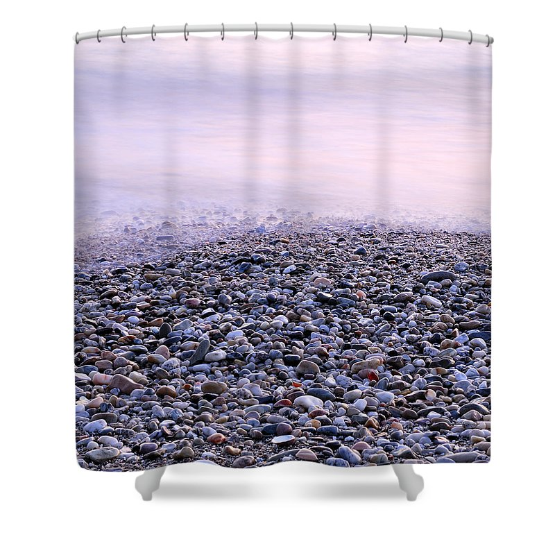 Seascape Shower Curtain featuring the photograph The Embrace Of The Sea by Guido Montanes Castillo