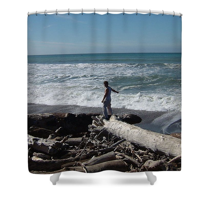Matt Shower Curtain featuring the photograph The End Of The Line by Susan Wyman