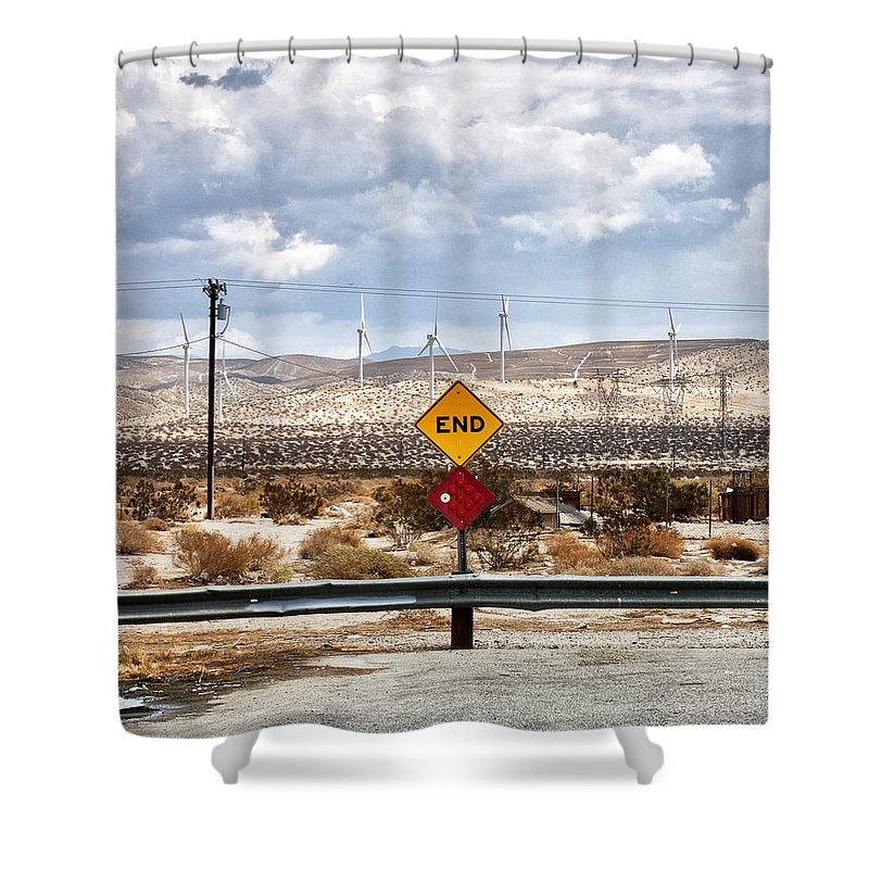 Shower Curtain featuring the photograph The End by William Dey
