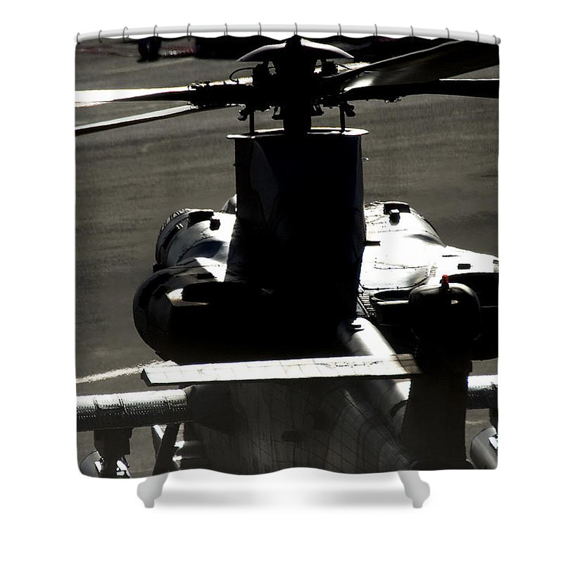 Atlas Rooivalk Shower Curtain featuring the photograph The Engine Of A Beast by Paul Job