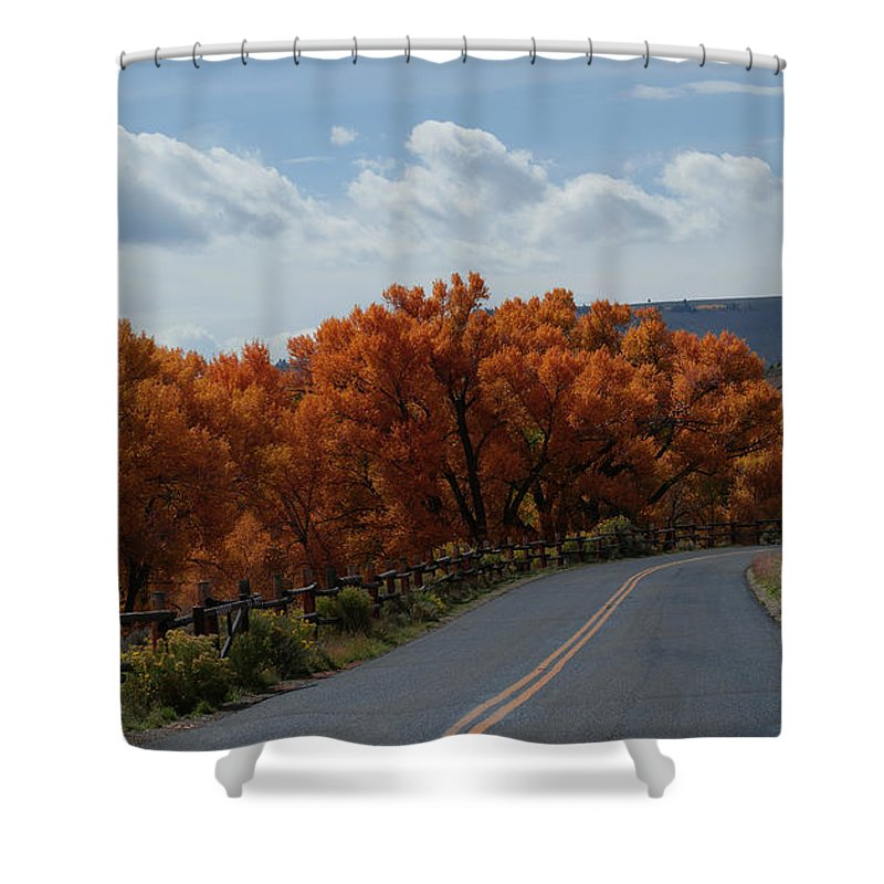Fall Colors Shower Curtain featuring the photograph The Entrance by Ernie Echols