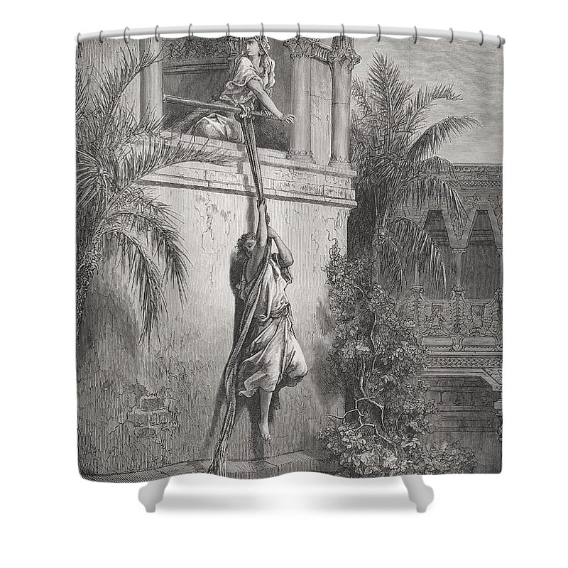 Rope Climbing Shower Curtains
