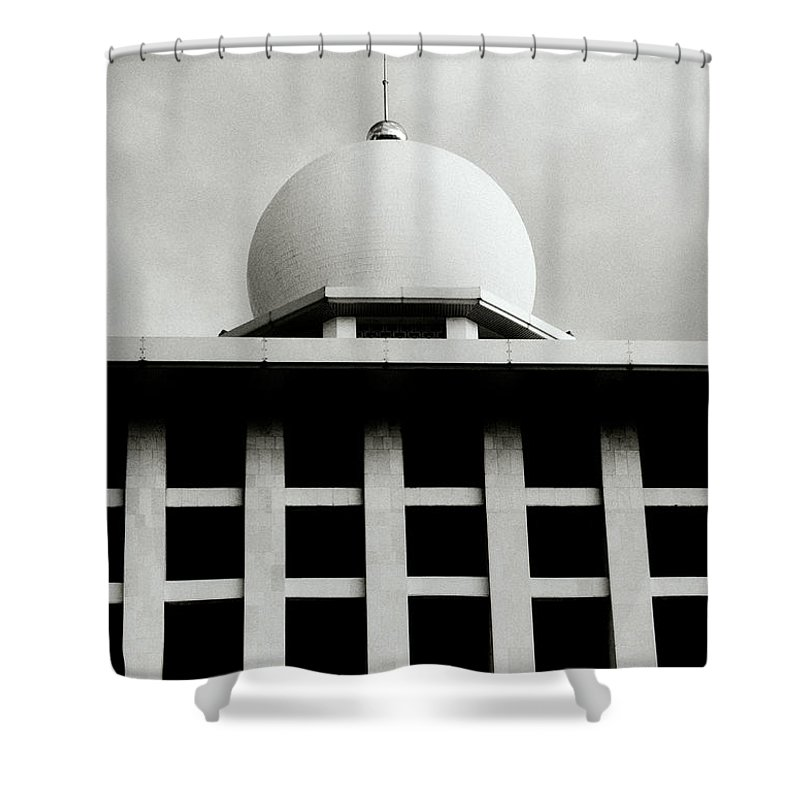 Indonesia Shower Curtain featuring the photograph The Ethereal Dome by Shaun Higson