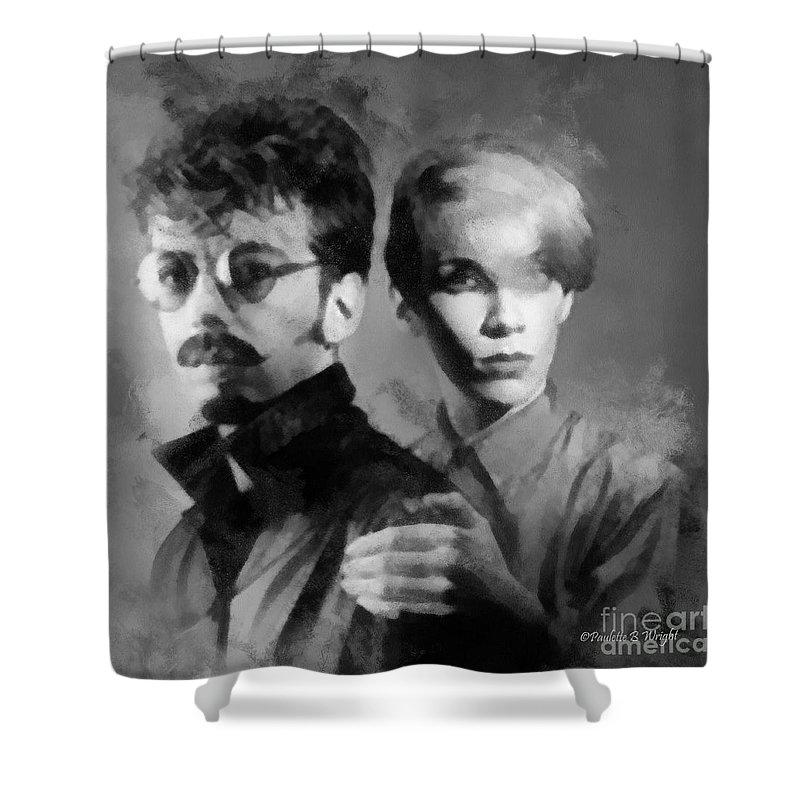 Eurythmics Shower Curtain featuring the photograph The Eurythmics by Paulette B Wright