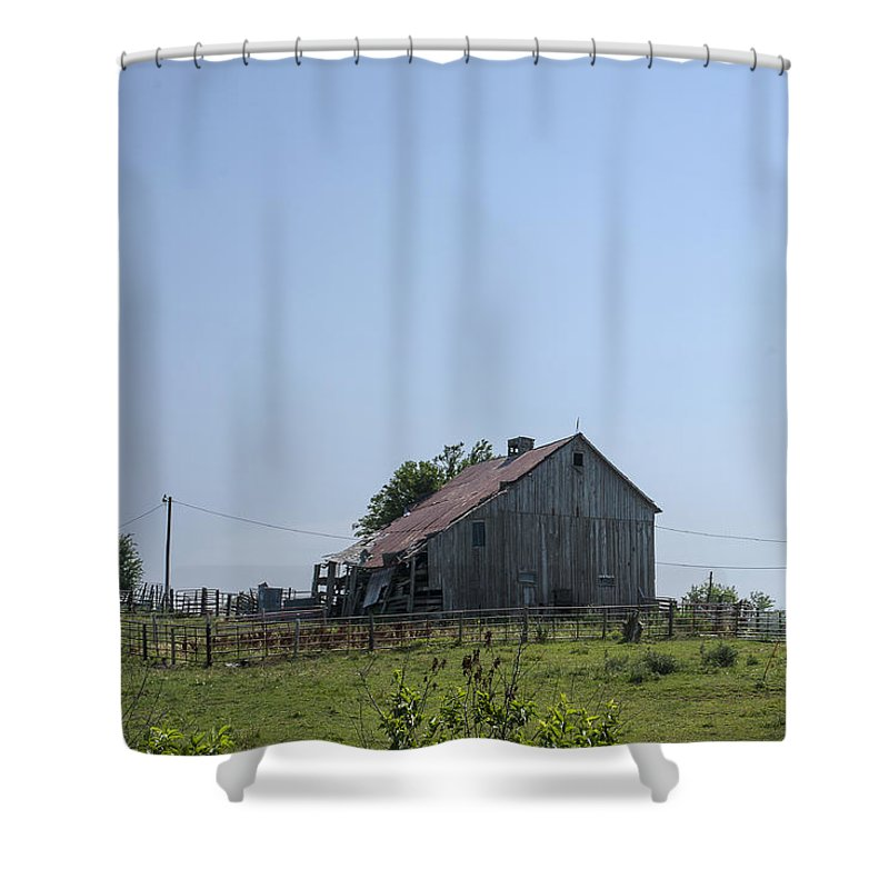 Barns Shower Curtain featuring the photograph The Family Barn by Edward Peterson