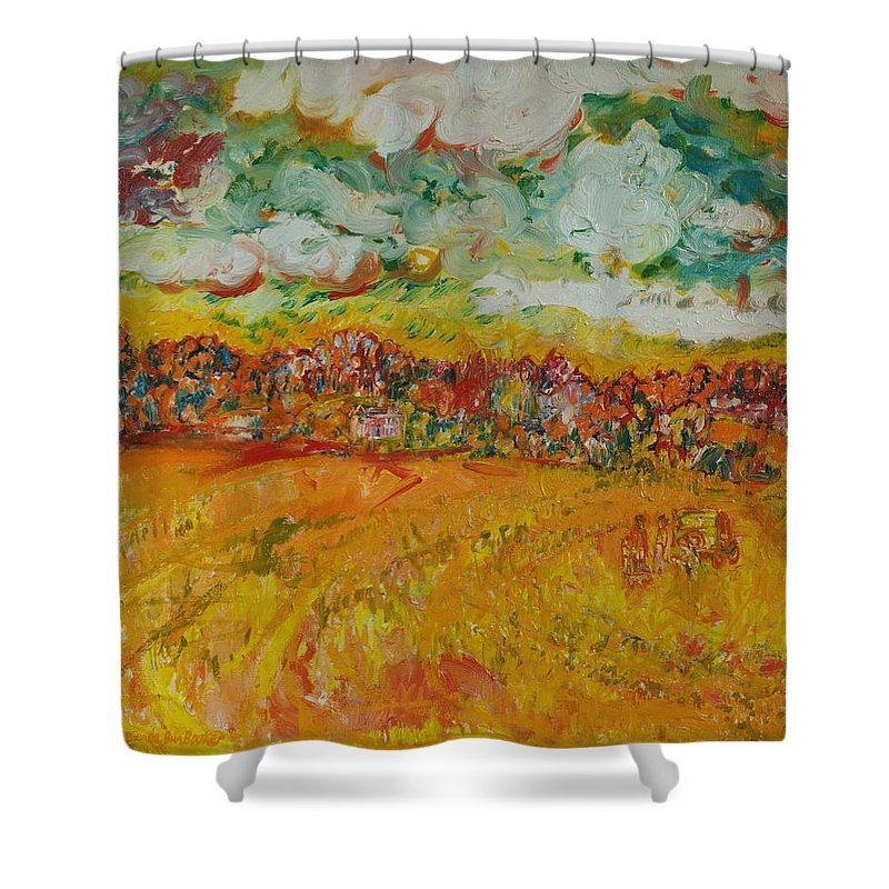 Rural Shower Curtain featuring the photograph The Farmland Oil On Canvas by Brenda Brin Booker