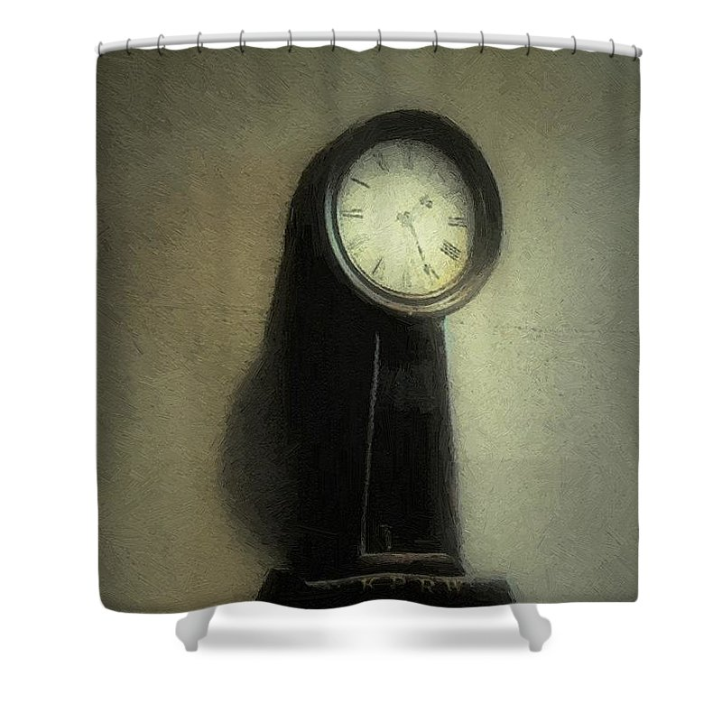 Antique Shower Curtain featuring the painting The Forgiveness Of Time by RC DeWinter