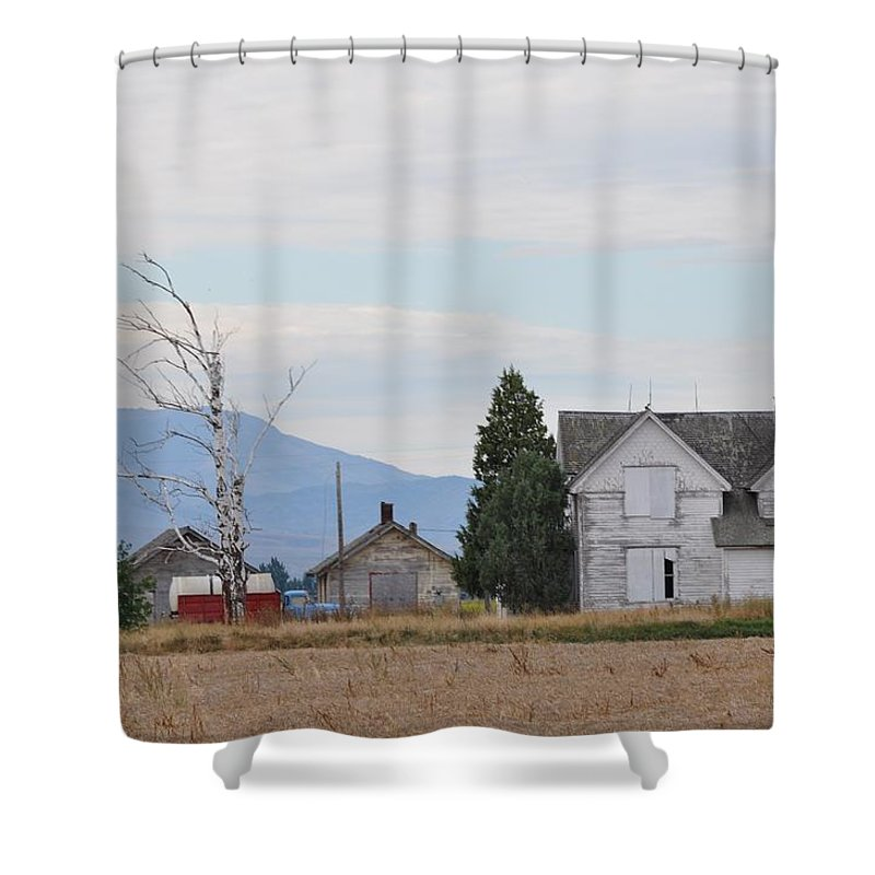 House Shower Curtain featuring the photograph The Forgotten Home by Image Takers Photography LLC