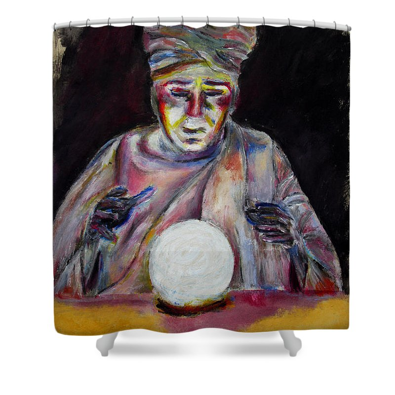 Fortune Tellers Shower Curtain featuring the painting The Fortune Teller by Tom Conway