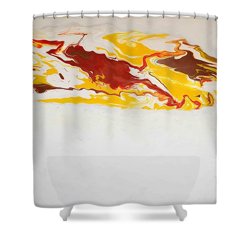 Abstract Shower Curtain featuring the painting The Free Spirit 5 by Sonali Kukreja