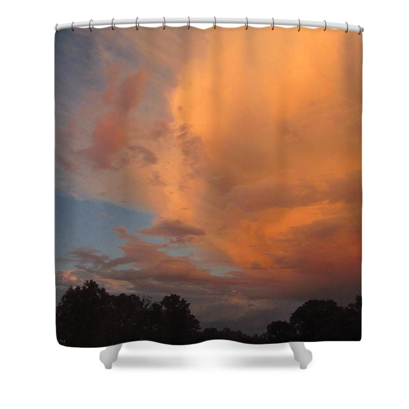 Cloud Shower Curtain featuring the photograph The Fury And The Beauty by Joyce Dickens