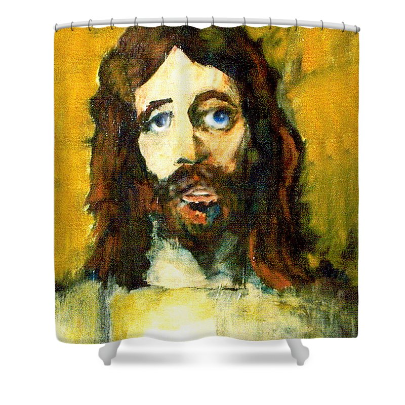 Jesus Christ Shower Curtain featuring the painting The Galilean by Seth Weaver