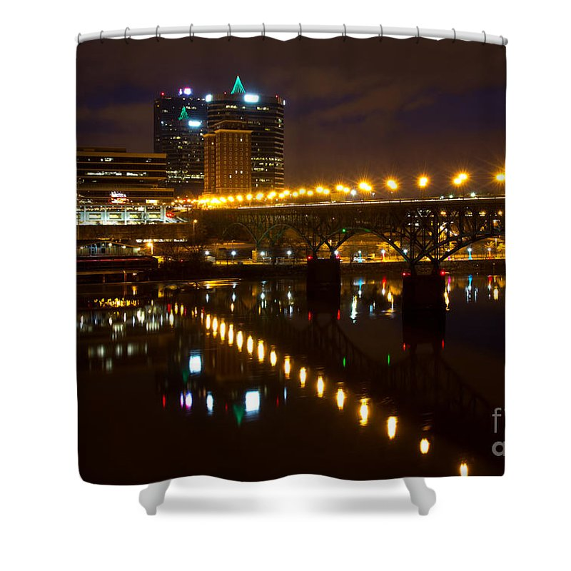 Knoxville Shower Curtain featuring the photograph The Gay Street Bridge by Douglas Stucky