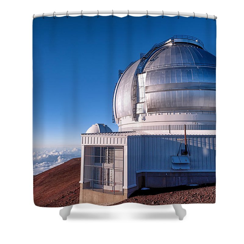 Buildings Shower Curtain featuring the photograph The Gemini Observatory by Jim Thompson