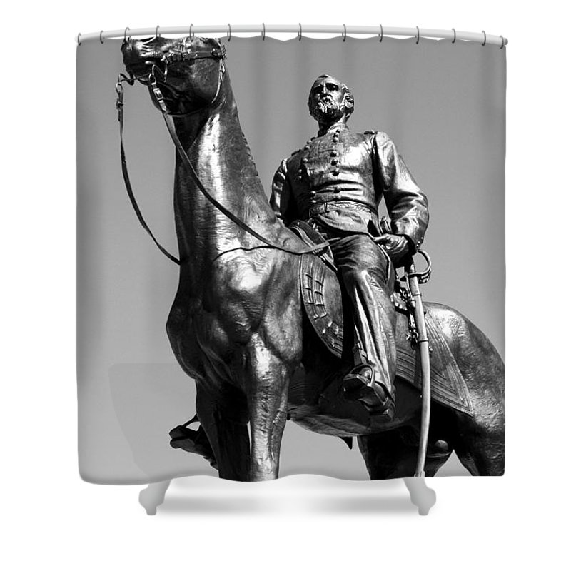 Civil War Shower Curtain featuring the photograph The General by Paul W Faust - Impressions of Light