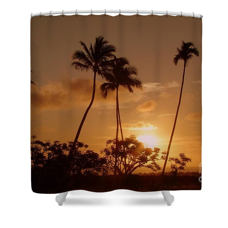Sunset Shower Curtain featuring the photograph The Glow Of Sunset by Mary Deal