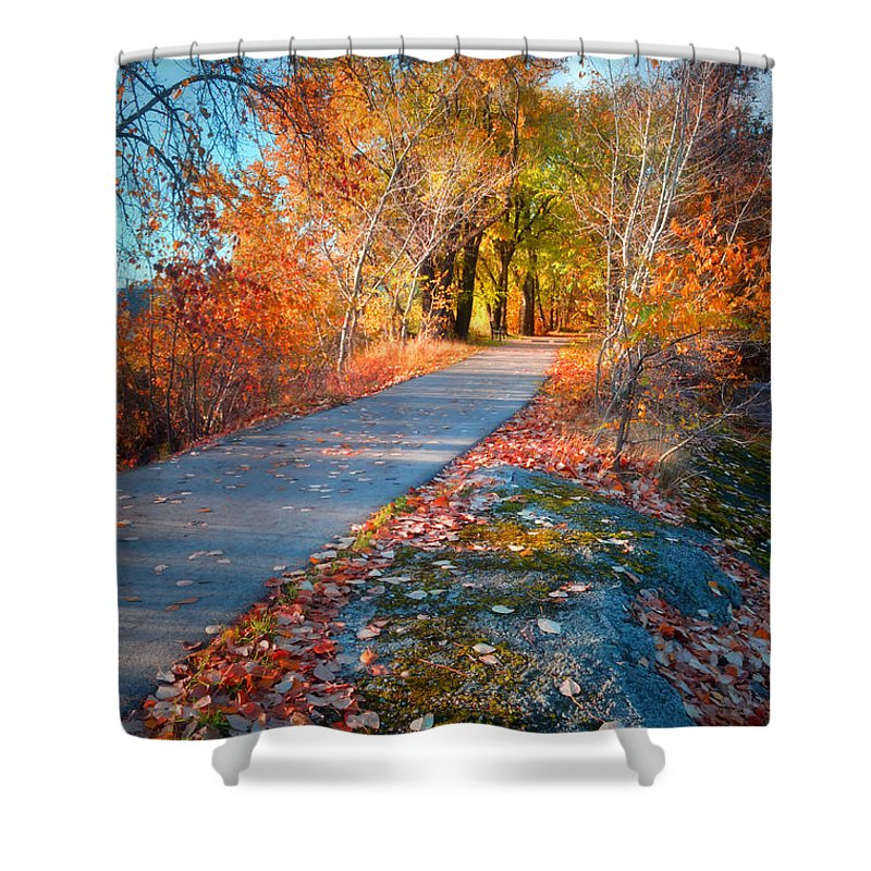 Autun Shower Curtain featuring the photograph The Glowing by Tara Turner