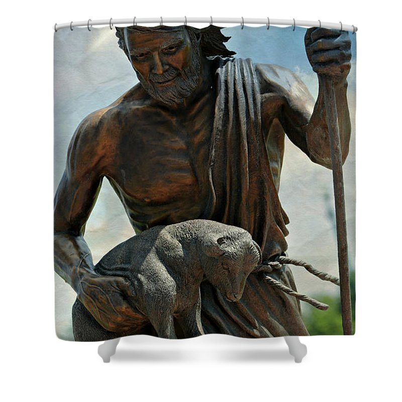 Ancient Shower Curtain featuring the photograph The Good Shepherd by Stephen Stookey