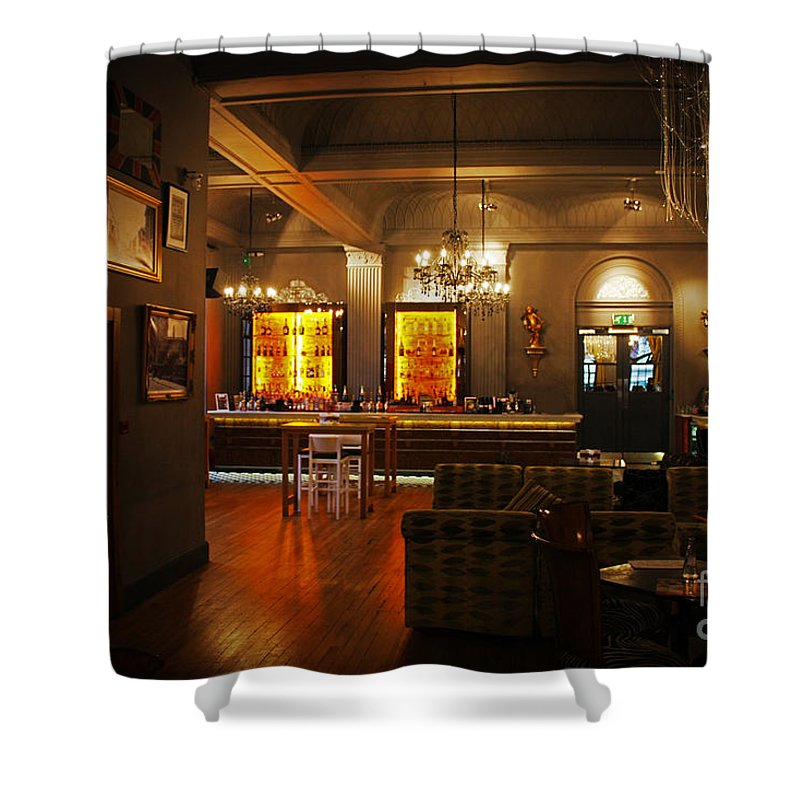 Grand Cafe Shower Curtain featuring the photograph The Grand Cafe Southampton by Terri Waters