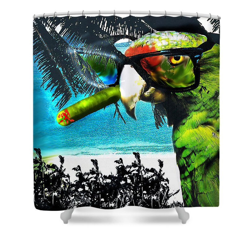 The Great Bird Of Casablanca Shower Curtain featuring the digital art The Great Bird Of Casablanca by Seth Weaver